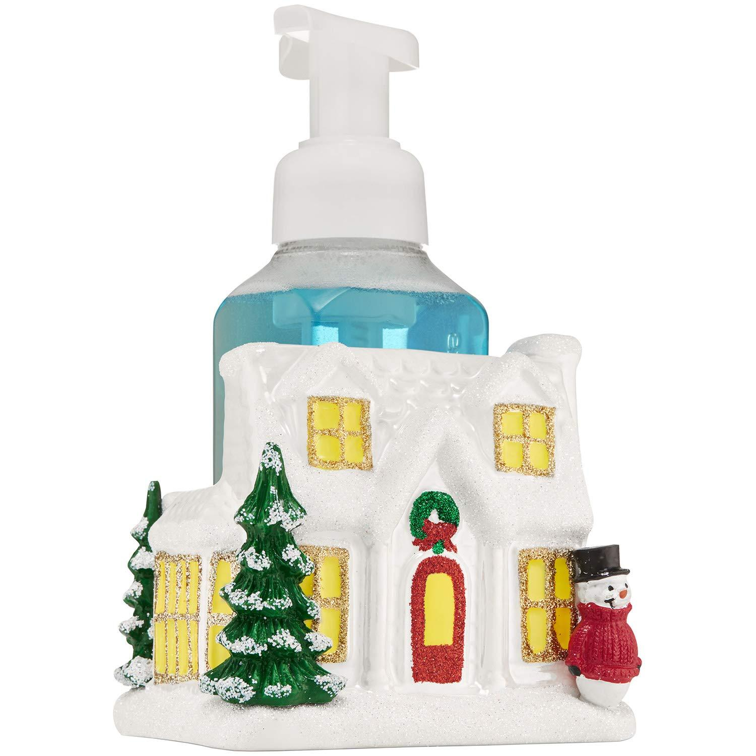 Bath & Body Works Ceramic Holiday House Hand Soap Holder