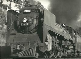 "Black & White Train Photo Print 11"" X 14"" ENLARGEMENT STEAMER RAILROAD  - $10.85"
