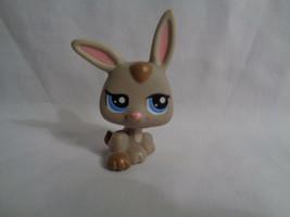 Hasbro Littlest Pet Shop Grey Bunny Rabbit Pink Ears Blue Eyes # 1333 - $3.94