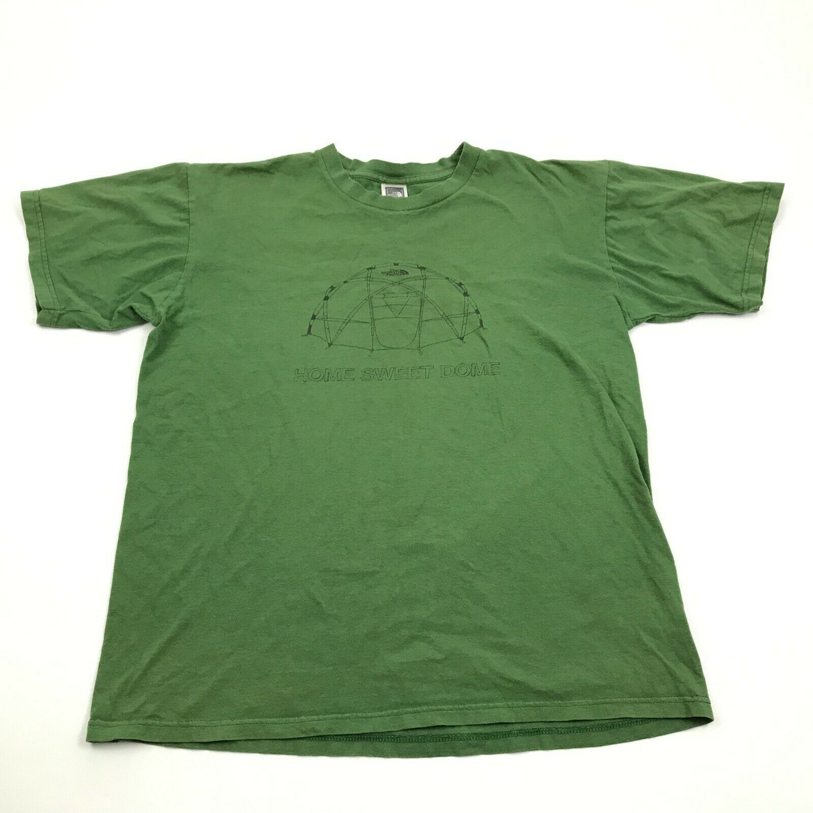 Primary image for The North Face Short Sleeve Shirt Size M Hiking Exploration Tee HOME SWEET DOME