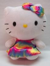 """TY Beanie Baby HELLO KITTY IN TIE DYE DRESS 6"""" Plush STUFFED ANIMAL Toy - $14.85"""