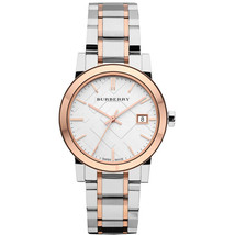 Burberry Women's Analog Large Check Two Tone Bracelet  Date Watch BU9105 - $227.70