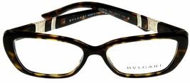 New Bvlgari Eyeglasses Frame Women Brown Havana Rectangular BV4102B 504 Fashion - $375.21