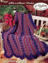 Radiant Ripples Mile a Minute Afghan TNS Crochet Pattern Leaflet NEW - $1.77