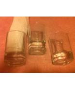 (3)  JACK DANIEL'S  SHOT GLASSES  OLD NO 7--CLEAR-----FREE SHIP--VGC - $21.69