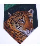 VTG WWF World Wildlife Fund Animal Print JAGUAR Leopard SILK Neck Tie Ne... - $36.62