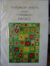 Pattern Stargazey Daisies Quilt Colorful! - $4.99