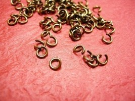 200pc mix 4mm and 5mm antique bronze split jump ring-2098A - $2.00
