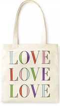 Kate Spade New York LOVE LOVE LOVE Canvas Book Tote New with Tags - $22.27