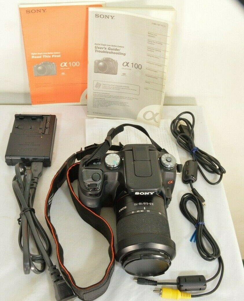 Sony Alpha a100 10.2MP Digital SLR Camera - Black (Kit w/ DT 18-70mm Lens)