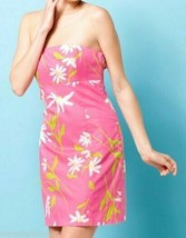 Lilly Pulitzer Franco Hotty Pink Twirlers Floral Tie Back Strapless Dres... - $99.00