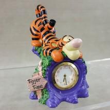 "It's Tigger Time Miniature Clock Disney 3.5"" Figurine Winnie the Pooh Wo... - $19.26"