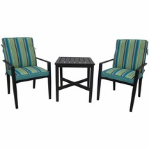 Patio Chat Set Swivel Chairs Table Conversation Furniture Outdoor Bistro... - $223.64