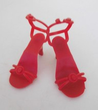 Vintage Red Plastic High Heels Shoes for Medium Fashion Doll - $14.99