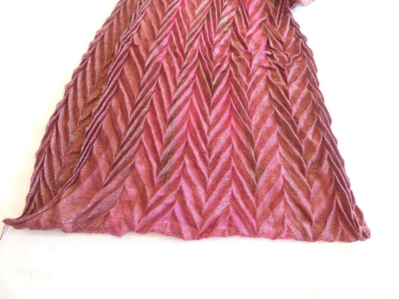 Collection XIIX Syrah Chevron Pattern Infinity Scarf, Currant/ Gold