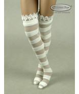 1/6 Scale Phicen, TBLeauge, Kumik, Vogue - Female White Stripes Lace Sto... - $12.38