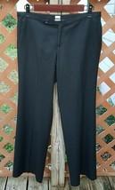 Old Navy Womens Sz 4 Stretch Dress Pants Just Below Waist Black Flat Fro... - $17.77