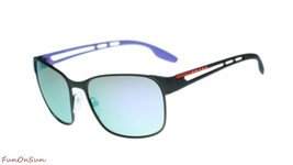 Prada Men Sunglasses PS52TS DG0140 Black Rubber/Multicolor Mirror Lens 59mm - $193.03