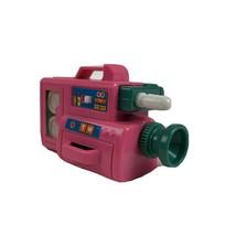 Mattel 1988 Barbie Doll Wind Up Video Camera 80s Toy Accessory EUC Pink Retro - $14.84