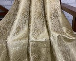 10%OFF Brocade fabric, Champagne Gold Brocade Fabric, fabric by the yard NFAF208 - £19.72 GBP