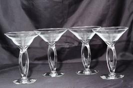 Libbey Set of 4 Omega Martini Round Glasses 6.75 Oz - $58.98