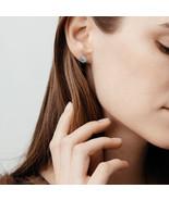 14k WhiteGold 1/6 Lab Grown Diamond Earring Halo Earring for women I1-IJ... - $63.99