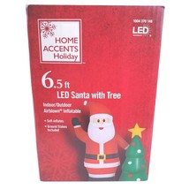 Gemmy Home Accents 6.5 Ft LED Santa With Tree Airblown Inflatable - $34.64