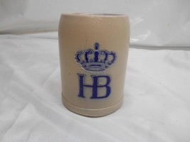 Antique HOFRAUHAUS HB Stoneware Pottery Beer Stein Mug Cup Germany Adver... - $29.69