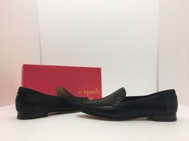 Kate Spade Carima Black Crinkled Metallic Leather Women's Flats Loafers ... - $101.28