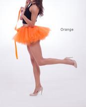 WOMEN MINI TUTU Skirt Drawstring Waist Solid Color Mini Petticoats Ballet Skirts image 9