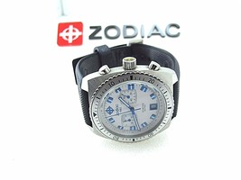 ZODIAC SEADRAGON ZO2242 QUARTZ SWISS MADE VINTAGE WATCH 100M WR CHRONOGRAPH - $339.15