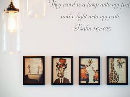 They word is a lamp unto my feet, and a light unto my path- Psalm 119:10... - $8.95+