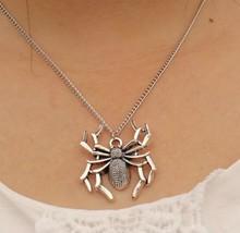 Spider Necklace, Steampunk Pendant, Halloween - $2.99