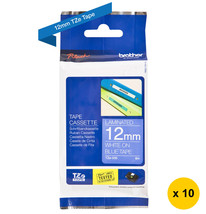 Brother TZe-535 Laminated 12mm Tape Cassettes (Pack of 10), White on Blu... - $207.99
