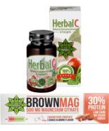 Protein Bar Almond + Magnesium Whey & Milk Protein + Herbal C Vitamin C ... - $20.78