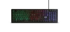 Zio Chocolate Korean English Keyboard USB Wired Membrane PC LED Backlight Keyboa