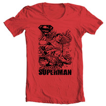 Superman Chains T shirt Metropolis red cotton Man Steel  tee comic DC SM1715 image 2