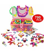 WTOR 700Pcs Pop Beads Toys DIY Jewelry Making Kit for Necklace Ring Brac... - $27.91
