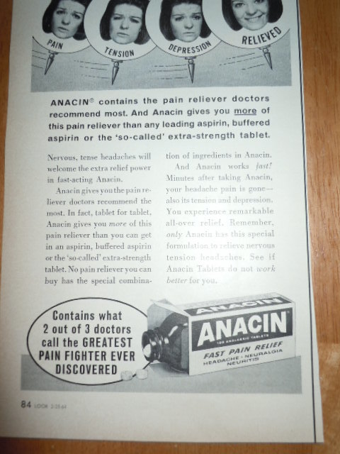 Anacin Extra Power Headache Pain Print and 50 similar items