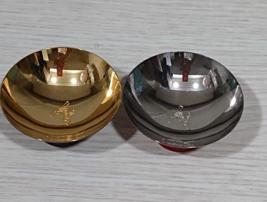 Premium Gold & Silver urushi Gyoku-hai  Sake Cup, moon & rabbit,  Christ... - $180.00