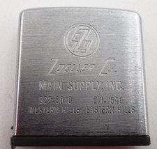 VGUC Zippo High Quality Tape Measure Advertising Zoeller Company Main Supply - $17.77
