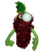 "C14 * Deluxe Custom ""Sparkly Red Monster w/Top Hat""  Sock Puppet * Custo... - $10.00"