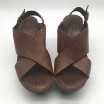 BORN Women's Leather Platform Sandals ~ Size 9 ~ Brown ~ Rubber Soles - $33.47