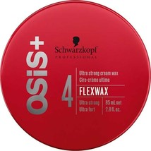 2x 85ML New Schwarzkopf Flexwax O Si S+ Hold Cream Wax Hair Texture Clay Free Ship - $25.98