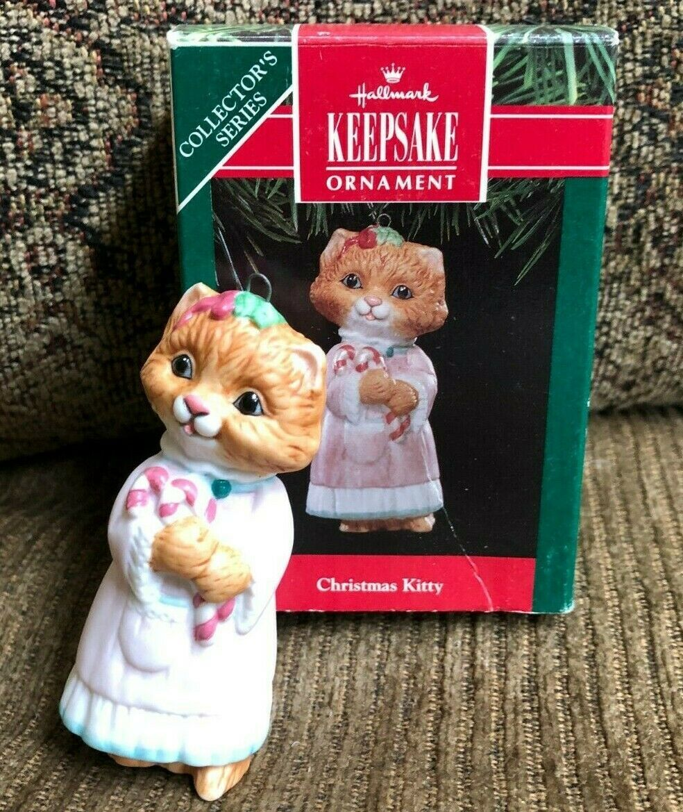 Primary image for Hallmark Keepsake Ornament Christmas Kitty 1991 Collector's Series 3rd in Series