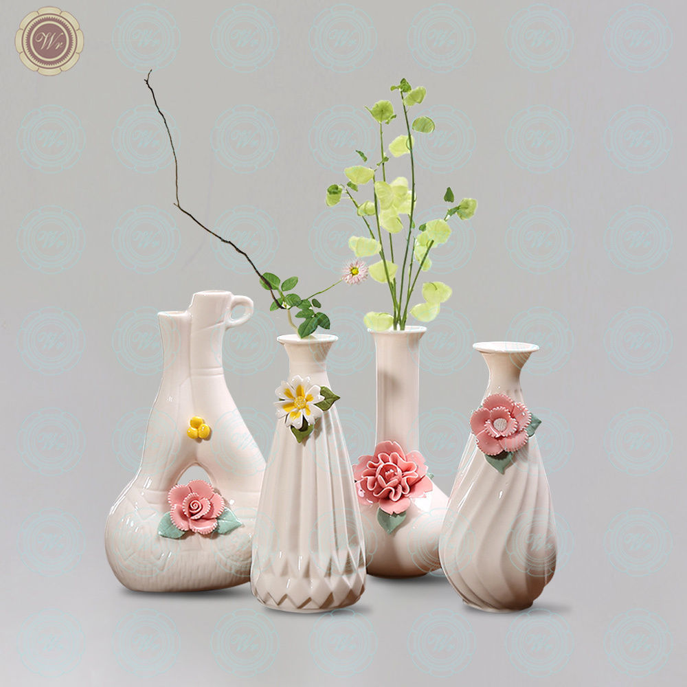 WR Porcelain Pink Flower Vase Decorating Ideas for The Home Romantic Gifts - $21.85 - $23.75