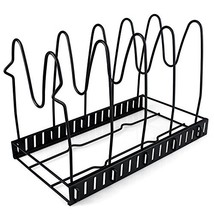 Pot Lid Organizer Foldable Pan Holder Cookware Display Stand Shelf 3 Tie... - $18.67