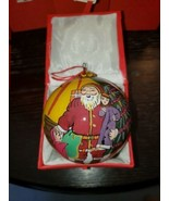 "Lot Of 12""LI BIEN"" Santa Claus Reverse Inside Painting Glass Christmas O... - $198.00"