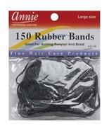 Annie 150 Large Rubber Bands Black #3149 - $3.40