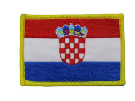 Croatia Country Flag Iron On Patch - $16.00